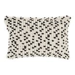 Mina Victory Loop Dots Black Throw Pillow