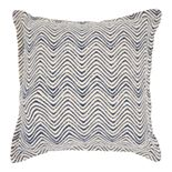 Mina Victory Life Styles Printed Waves Throw Pillow