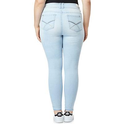 Junior's Wallflower Plus Size Luscious Curvy Skinny Jeans