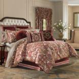 37 West Reese Burgundy 4-Piece Comforter Set