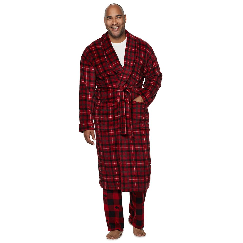 Big & Tall Croft & Barrow® Printed Plush Robe