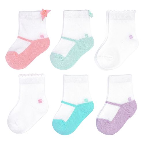 Baby Girl Jumping Beans® 6-Pack Ballet Crew Socks