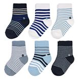 Baby Boy Jumping Beans® 6-Pack Blue Strip Crew Socks