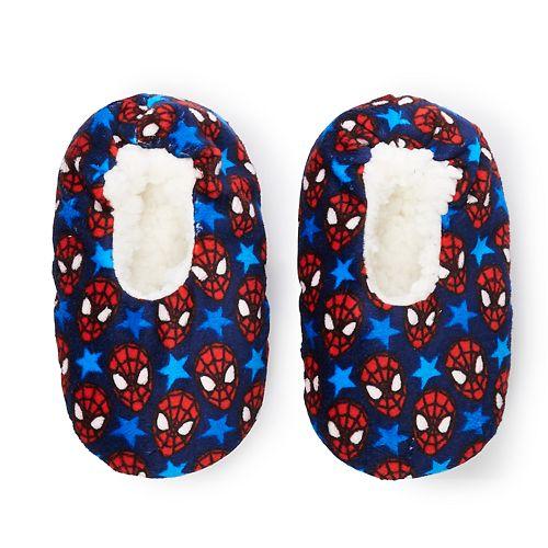 Toddler Boy Marvel Spider-Man Fuzzy Babba Slipper Socks