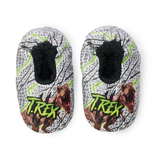 Toddler Boy Jurassic Park Fuzzy Babba Slipper Socks