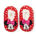 Disney's Minnie Mouse Toddler Girl Bow Fuzzy Babba Slipper Socks