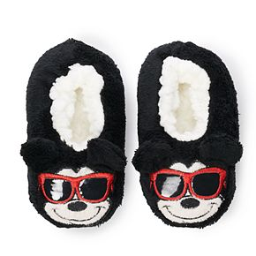 Disney's Mickey Mouse Toddler Boy 3D Ears Fuzzy Babba Slipper Socks
