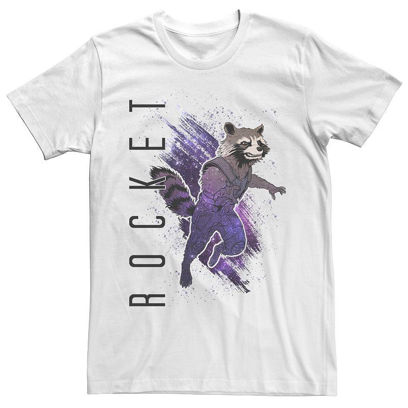 Men's Guardians of the Galaxy Rocket Raccoon Tee, Size: XXL, White