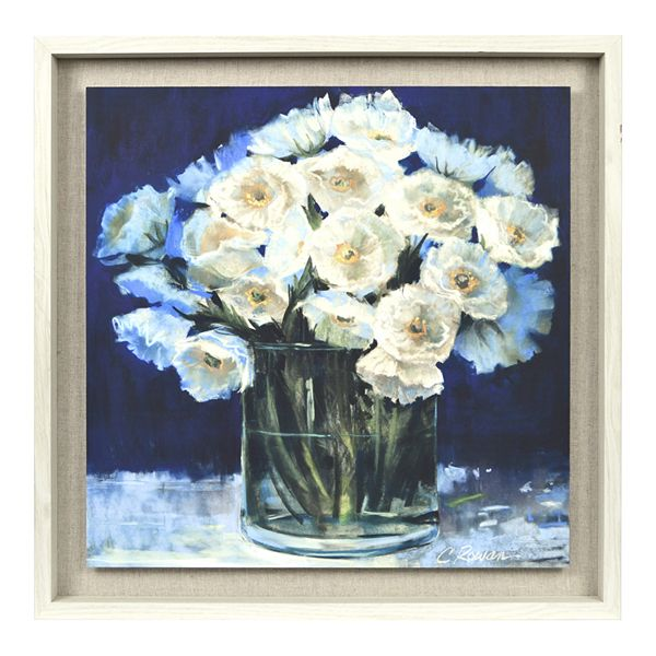 New View Gifts Reverse Box Art with Blue Floral Vase