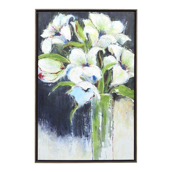 New View Gifts Framed Canvas Lilies