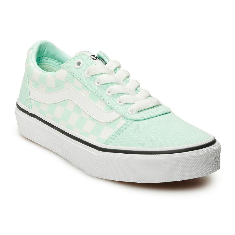 Vans Ward Girls' Checkered Skate Shoes, Girl's, Size: 11, Med Blue