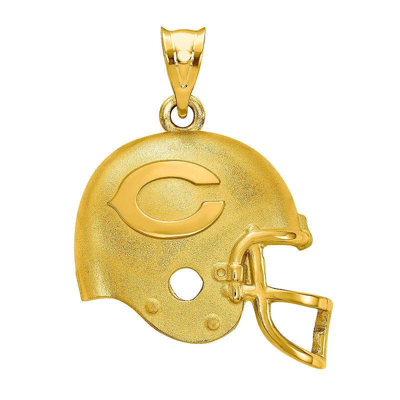 Women's NFL LogoArt Sterling Silver Chicago Bears Pendant. Size: 15 mm. Multicolor