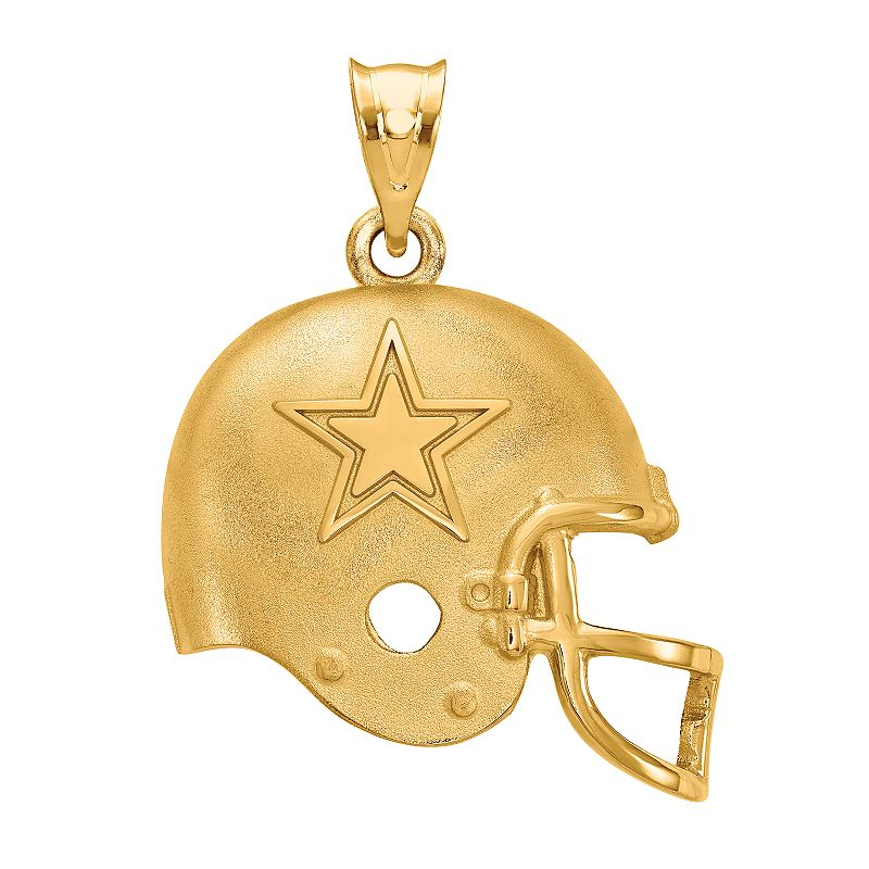 Women's NFL LogoArt Sterling Silver Dallas Cowboys Helmet Pendant. Size: 15 mm. Multicolor