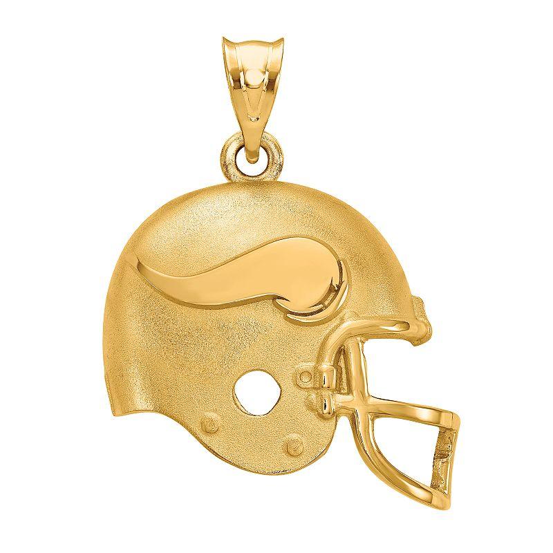 Womens NFL Logoart Minnesota Vikings Helmet Pendant. Women's. Size: 15 mm. Multicolor