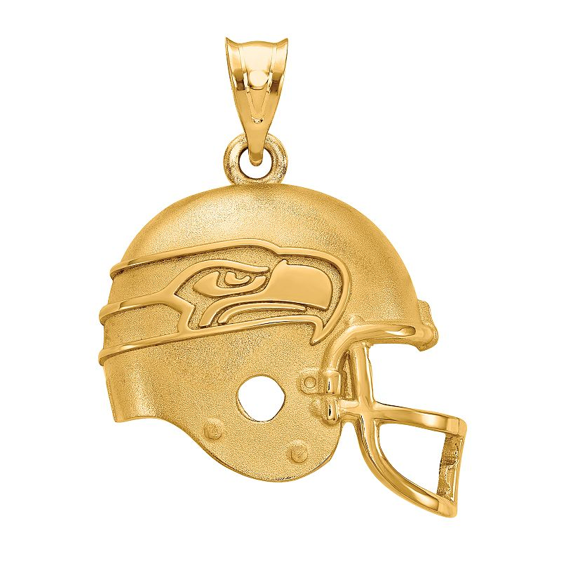 Women's NFL LogoArt Sterling Silver Seattle Seahawks Helmet Pendant. Size: 15 mm. Multicolor