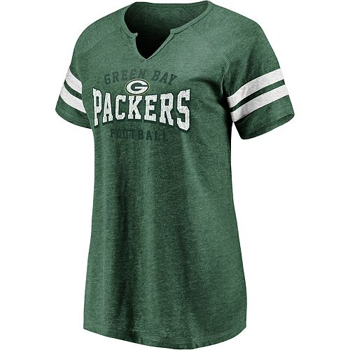 19f2e614 Women's NFL Green Bay Packers Short Sleeve V-Neck Tee