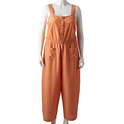 Plus Size LC Lauren Conrad Square Neck Jumpsuit