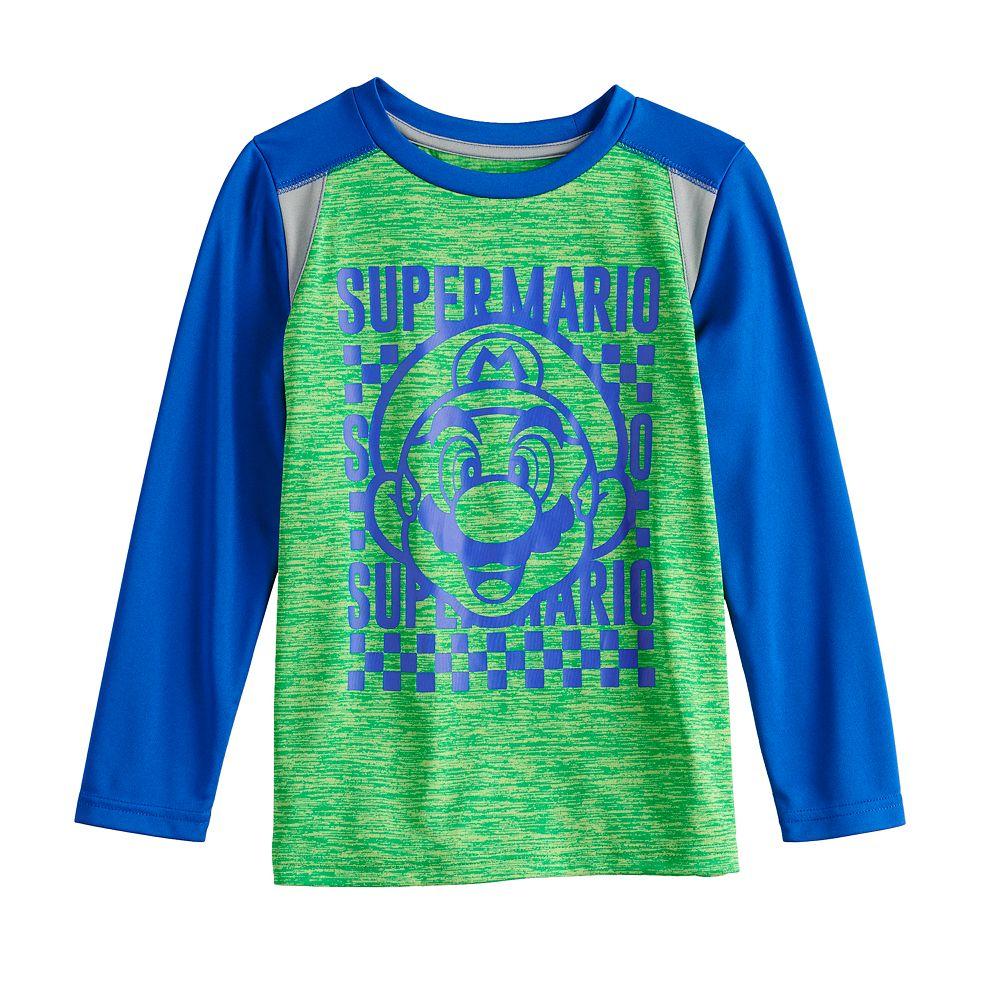 Boys 4-12 Jumping Beans® Super Mario Raglan Active Long-Sleeve Tee