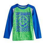 Boys 4-12 Jumping Beans® Super Mario Raglan Active Long-Sleeve Tee