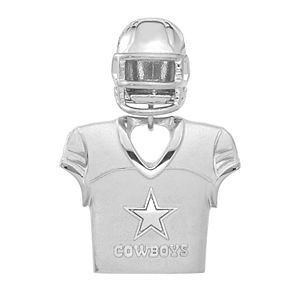top fashion 6b63a 5aed7 Women's NFL LogoArt Sterling Silver Dallas Cowboys Helmet Pendant