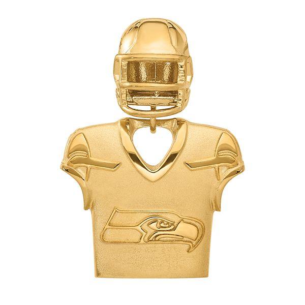 Women's NFL LogoArt Sterling Silver Seattle Seahawks Jersey/Helmet Pendant