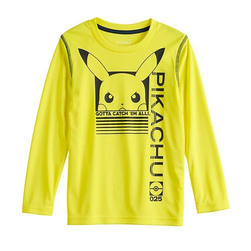 Boys 4-12 Jumping Beans® Pikachu Active Long-Sleeve Tee