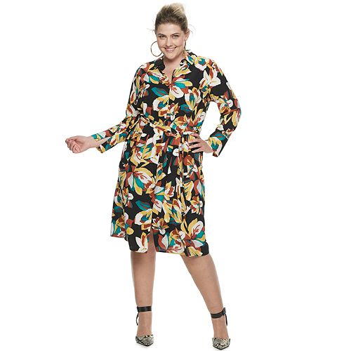 Plus Size Jennifer Lopez Shirt Dress
