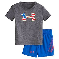 e44e86842 Baby Boy Under Armour Americana Big Logo Graphic Tee & Shorts Set