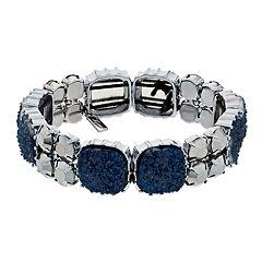 Simply Vera Vera Wang Blue Druzy Stretch Bracelet