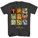 Boys 8-20 Disney's The Lion King Character Grid Logo Tee
