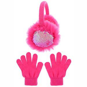 Girls SO® Reverse Sequin Earmuff and Magic Glove 2-Piece Set