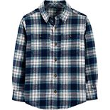 Boys 4-14 Carter's Plaid Twill Button-Front Shirt