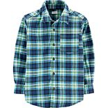 Boys 4-14 Carter's Plaid Flannel Shirt