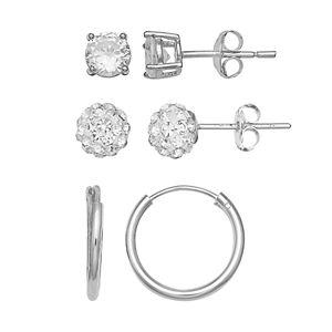 Primrose Sterling Silver Earrings (Set of 3)