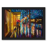 "Americanflat ""Love In The Rain"" Framed Wall Art"