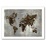 "Americanflat ""Gold World Map"" by PI Creative Art"
