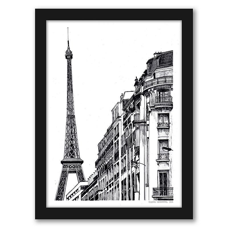 """Americanflat """"Paris"""" Framed Wall Art, 15X12"""