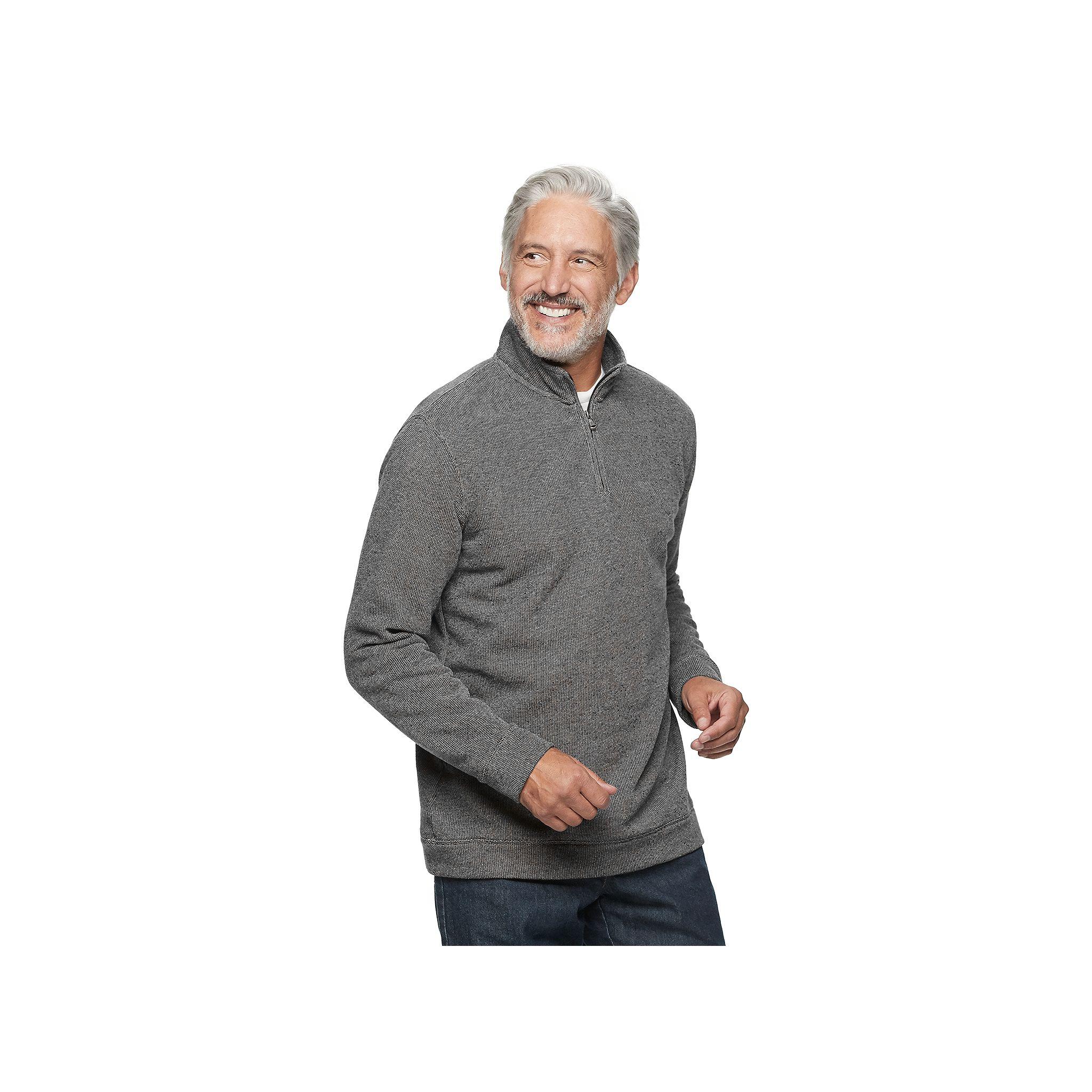 Croft & Barrow Men's Textured Fleece Quarter-Zip Pullover (various colors/sizes)