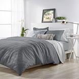 Solid Ogee Microsculpt Comforter Set