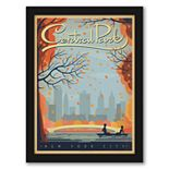 "Americanflat ""New York City Central Park Autumn"" Framed Wall Art"
