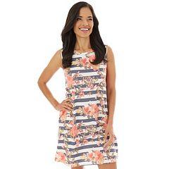 Petite Apt. 9 Printed Sleeveless Swing Dress
