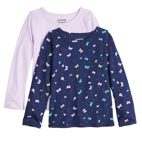 Toddler Girl Jumping Beans® Adaptive 2-pack Long-Sleeve Tees