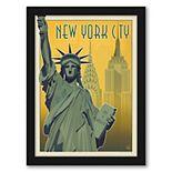 """Americanflat """"New York City NY"""" Framed Wall Art"""