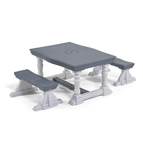 Tremendous Step 2 3 Piece Farmhouse Table Bench Set Machost Co Dining Chair Design Ideas Machostcouk