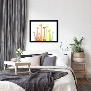 """Americanflat """"Giraffes"""" Framed Wall Art"""