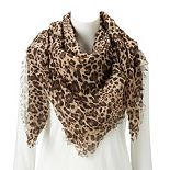 Women's Apt. 9® Leopard Printed Square Scarf