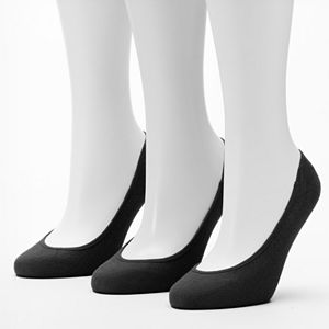 Women's Apt. 9® 3-pk. Low-Cut Cotton Liner Socks