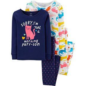 Girls 4-14 Carter's 4-Piece Snug Fit Cotton PJs