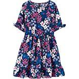 Girls 4-14 Carter's Floral Twill Dress