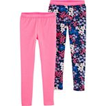 Girls 4-12 Carter's 2-Pack Neon Floral Leggings